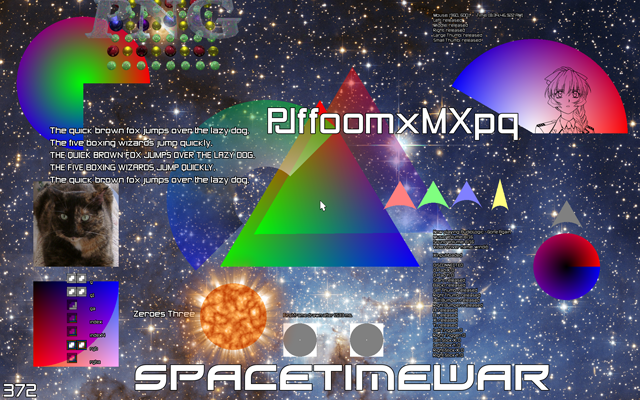 Spacetimewar Using FreeType