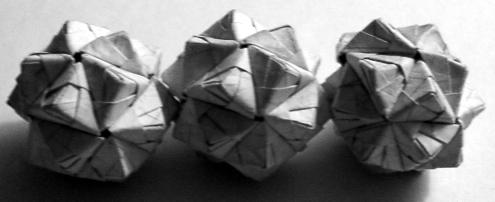 Three 1-Inch Icosahedra